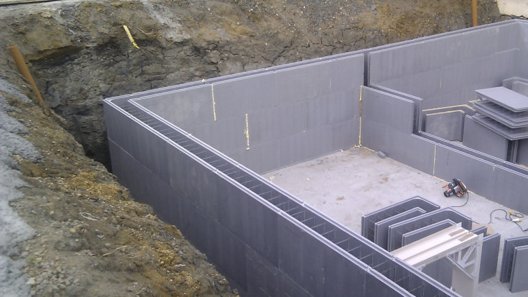 Building a basement using ICF